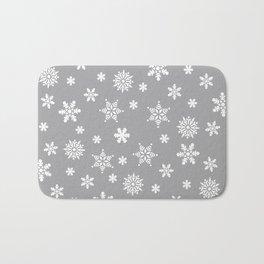 Snow Flurries-Light Gray Bath Mat