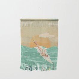 Girl Dive Vintage Wall Hanging