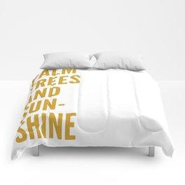 palm trees & sunshine Comforters