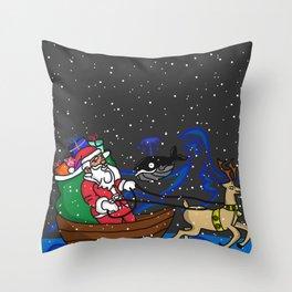 Santa sailor Throw Pillow