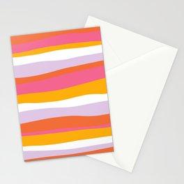 cali beach stripes Stationery Cards