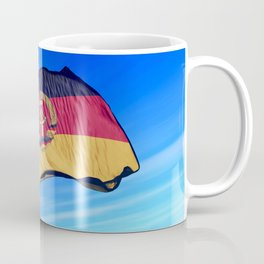 East Germany flag (1949 to 1990) waving on the wind Coffee Mug