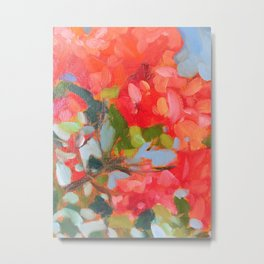Vermillion Blooms Metal Print