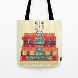 So many books - Frank Zappa Tote Bag