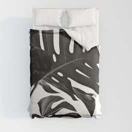 Tropical Monstera Finesse #2 #minimal #decor #art #society6 Comforters