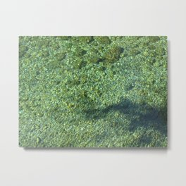 Water Marbles Metal Print