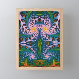 Wild Fiber IV. Colorful Abstract Art Framed Mini Art Print