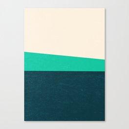 Stripe II Fresh Mint Canvas Print