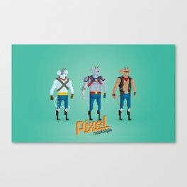 Biker Mice from Mars - Pixel Nostalgia Canvas Print