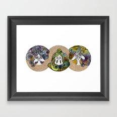 3wise girl Framed Art Print