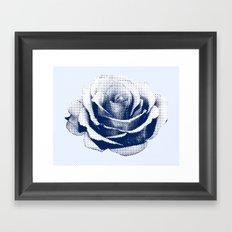HALFTONE ROSE Framed Art Print