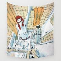 selfie Wall Tapestries featuring Selfie by Sebastian Cabot