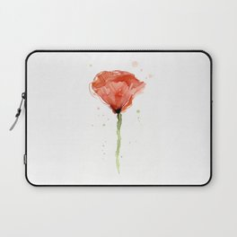 Poppy Watercolor Abstract Red Flower Laptop Sleeve