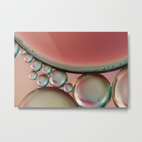 Watermelon Pink Abstract Metal Print