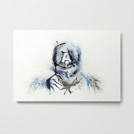 Cap America - Splatter Artwork 3 Metal Print