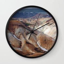 Landmannalaugar III Wall Clock