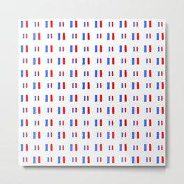 Flag of France 17- Handmade Metal Print