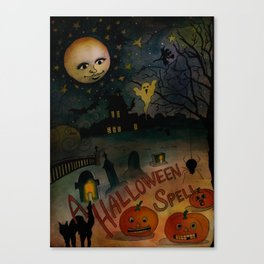A Halloween Spell Canvas Print
