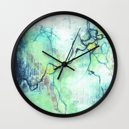 Electrostatic Frequency Wall Clock