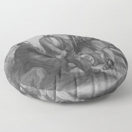 President Lincoln and His Commanders Floor Pillow