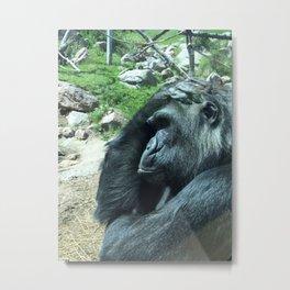 Overwhelmed Gorilla Metal Print