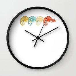 Chameleon Chamaeleon Vintage Snail Design Wall Clock