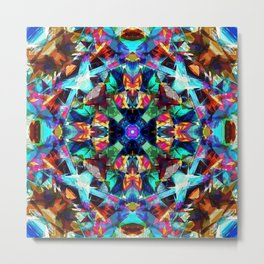Colorful Geometric Abstract Metal Print
