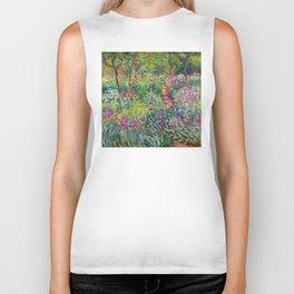 Claude Monet - The Iris Garden At Giverny Biker Tank