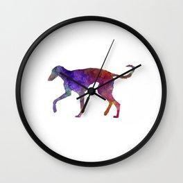 Polish Greyhound in watercolor Wall Clock