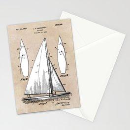 patent art Herreshoff  Sail Boat 1925 Stationery Cards