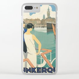 Vintage poster - Dunkirk Clear iPhone Case