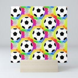 Soccer Pattern | Goal Score Stadium Champion Mini Art Print