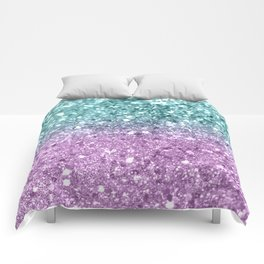 Mermaid Girls Glitter #6 #shiny #decor #art #society6 Comforters