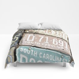 Old License Plates Comforters