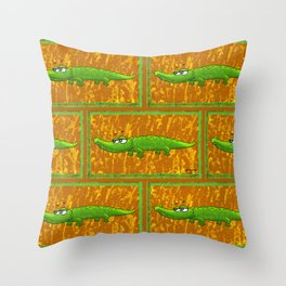 Crocodile Smile! Throw Pillow