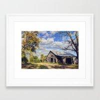 kentucky Framed Art Prints featuring Kentucky Barn by JMcCool