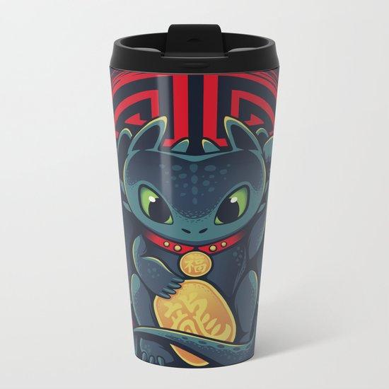 Maneki Dragon Metal Travel Mug
