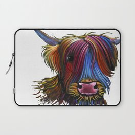 Scottish Highland Cow ' PoDGER ' by Shirley MacArthur Laptop Sleeve