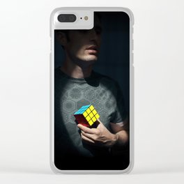 The distinguished gentleman with a cube heart Clear iPhone Case