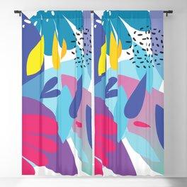Summer Fun Abstract Modern Art Blackout Curtain
