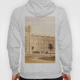 View Of Arsenal Museum 1857 by Rudolf von Alt | Reproduction Hoody