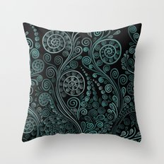 Teal ornaments Throw Pillow