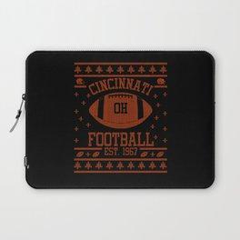 Cincinnati Football Fan Gift Present Idea Laptop Sleeve