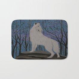 Howling wolf Bath Mat