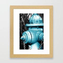 Blue Fire Hydrant  Framed Art Print