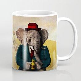 Mr. Preston J. Pachyderm visits the Sphinx Coffee Mug