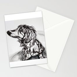 Frankie the Miniature Daschund Stationery Cards