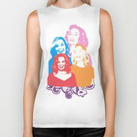 jessica lange Biker Tanks featuring Jessica Lange - Her smile is everything by BeeJL