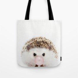 Bubble Gum Hedgehog Tote Bag