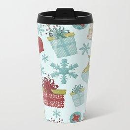 Merry Christmas-Festive gift and Christmas Bowls X-Mas Pattern Metal Travel Mug